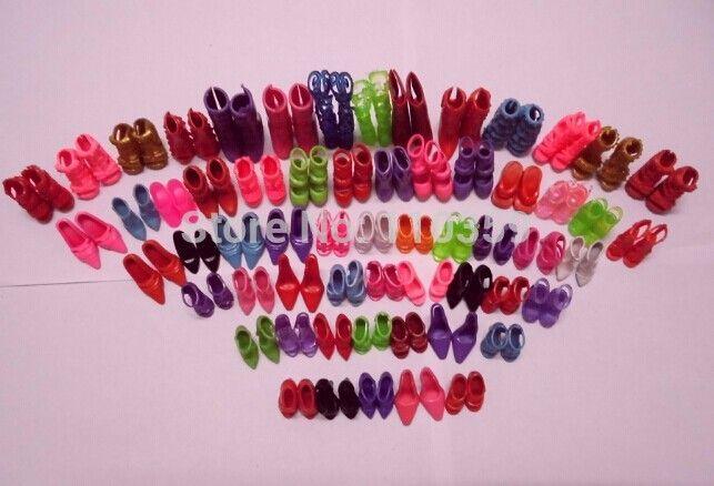 Горячая распродажа 60 пар/компл. мода на высоких каблуках сандалии кукла обувь для барби куклы наряд платьекупить в магазине GO GO shopнаAliExpress