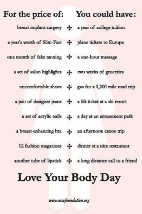 ten things you can do to accept yourself, accept your body, and embrace a positive body image.
