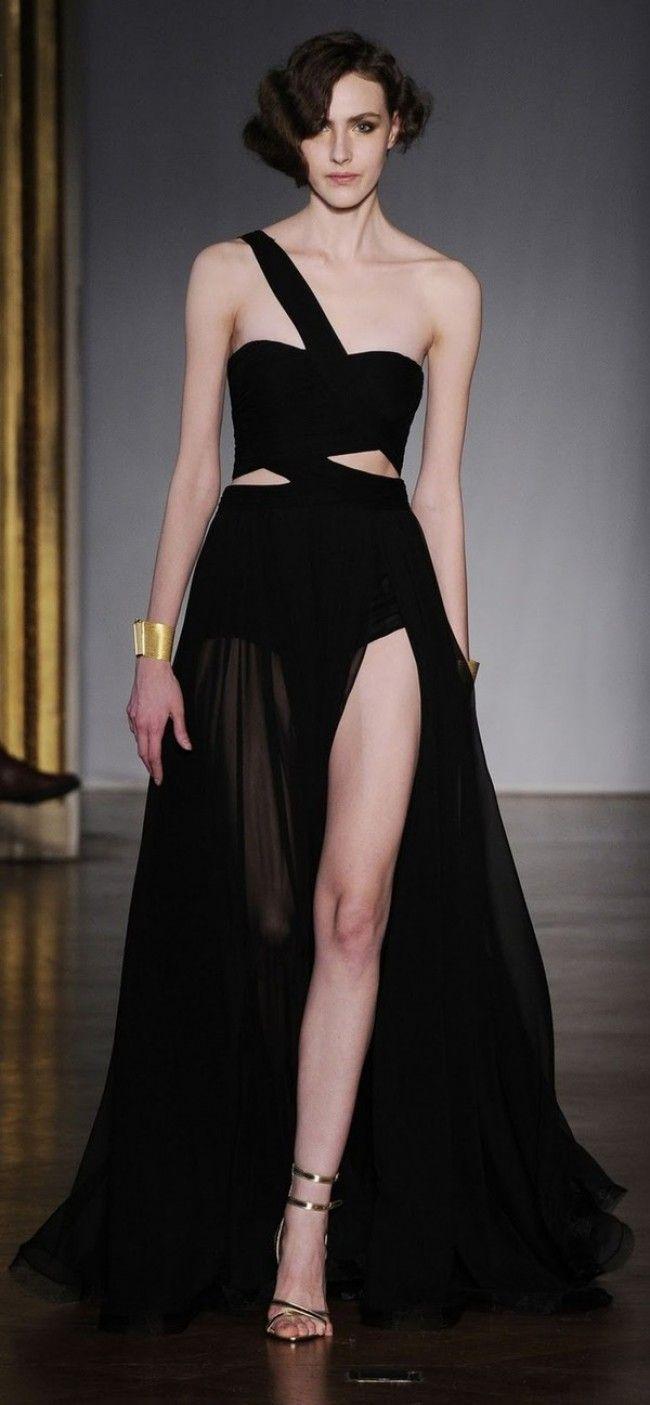 Ph11011 lggy azalea ewa dilek hanif haute couture black chiffon long dress off shoulder long evening dress