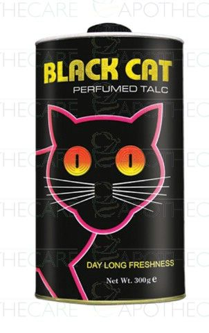 Peridot Products Black Cat Perfumed Talc #blackcat #johnbrown #peridotproducts #talcumpowder #bo #bodyodour #sehatpk #onlinepharmacy #fazaldin #yehaapkisehathai #grooming