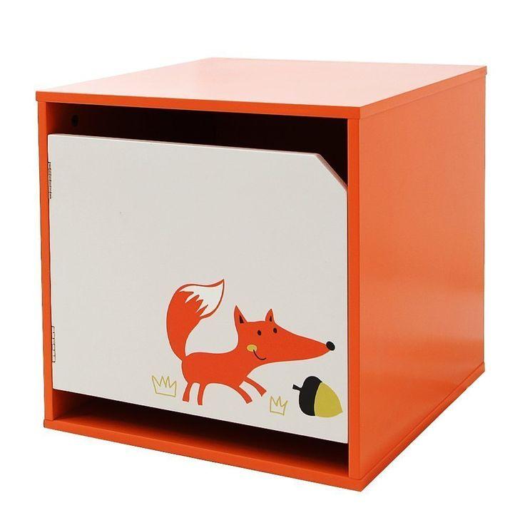 Spielzeug Regal Fuchs   Perfekt Für Ein Wald Kinderzimmer |  Aufbewahrungskiste | Spielzeugkiste | Aufbewahrungsbox