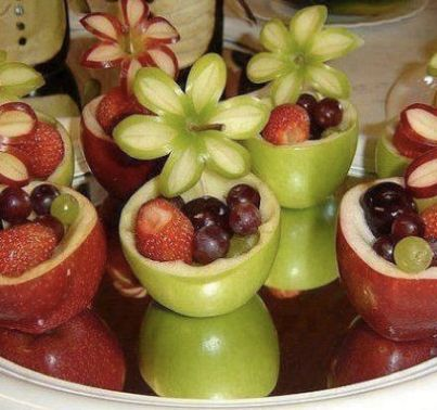 I might be able to do that...how pretty.  Good for a women's luncheon, baby shower and very healthy for kids parties!