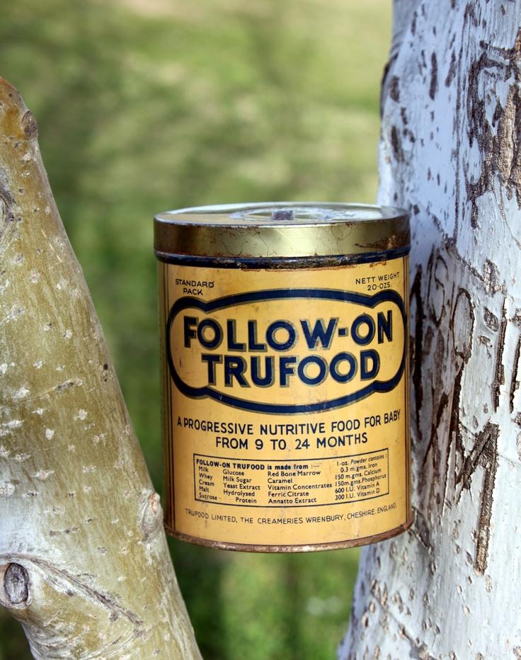 Follow-On Trufood. Bote de leche para bebé del 1 de diciembre de 1947