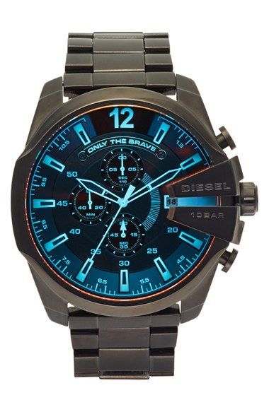 DIESEL® 'Advanced' Chronograph Bracelet Watch, 51mm available at #Nordstrom