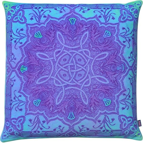 Aaizi - Cushion Gordes Purple Square ($120) ❤ liked on Polyvore featuring home, home decor, throw pillows, purple throw pillows, purple accent pillows, vintage throw pillows, square throw pillows and purple toss pillows
