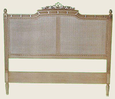 St germain rattan bed head king