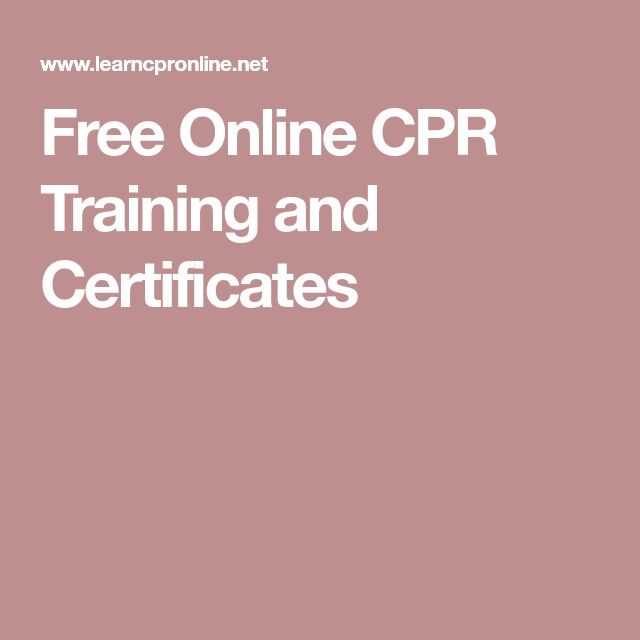 Free Online CPR Training and Certificates