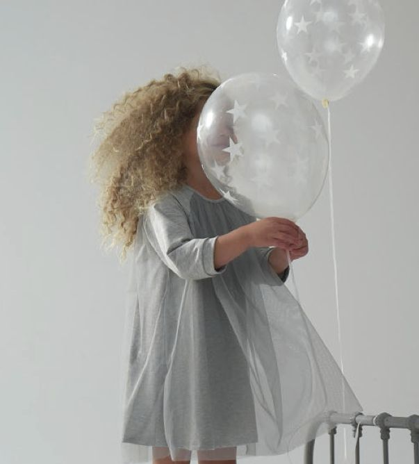 Kids on The Moon winter 2013 sweet grey tulle girls party dress