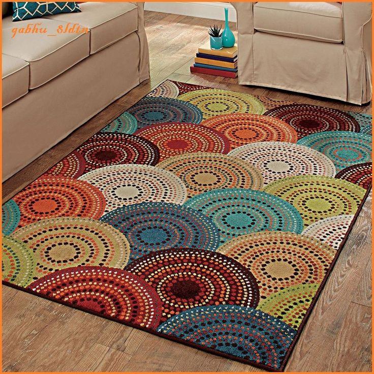 Rainbow Rug Area Rugs Carpet Flooring Rug Floor Decor Contemporary Large New