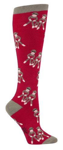 Sock It To Me Sock Monkeys Red Knee High Socks « Holiday Adds