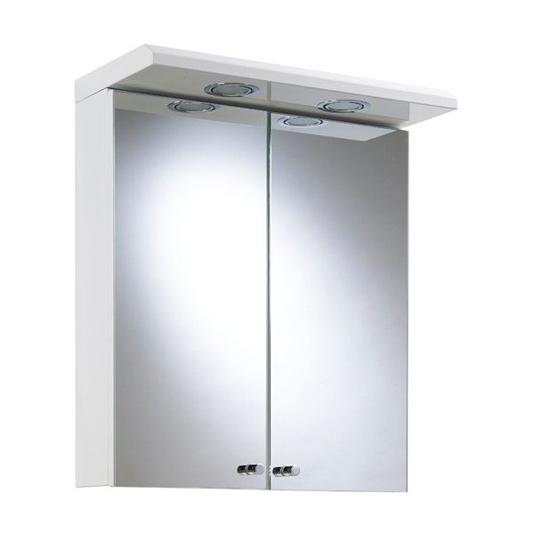 Croydex Shire White Steel Double Door Illuminated Cabinet - Illuminated Bathroom Cabinets - Bathroom Cabinets - Bathroom Furniture