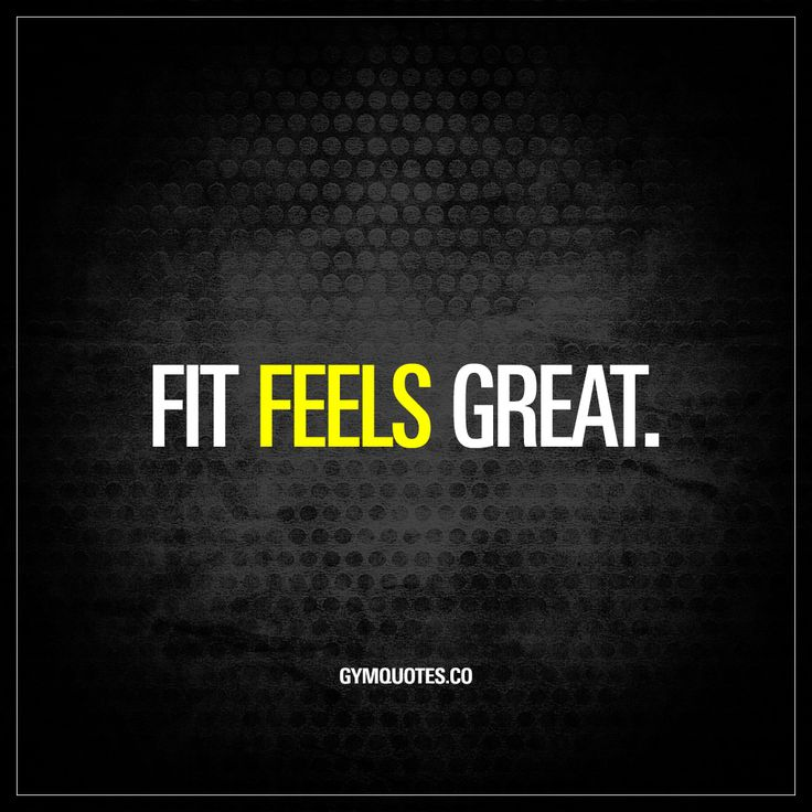 """Fit feels great."" - This is the reason why most of us go to the gym and train hard. Because fit FEELS GREAT. If you love training and the feeling of being fit, then like and save this quote! www.gymquotes.co"