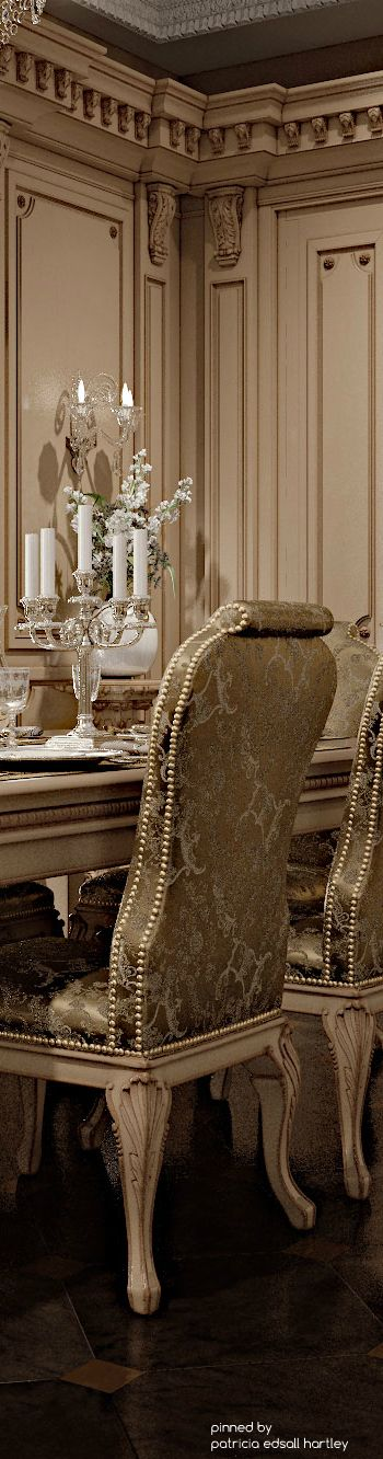 Upholstered dining room chairs is always a good idea. Such a chic space. www.luxebyminihaha.co.uk