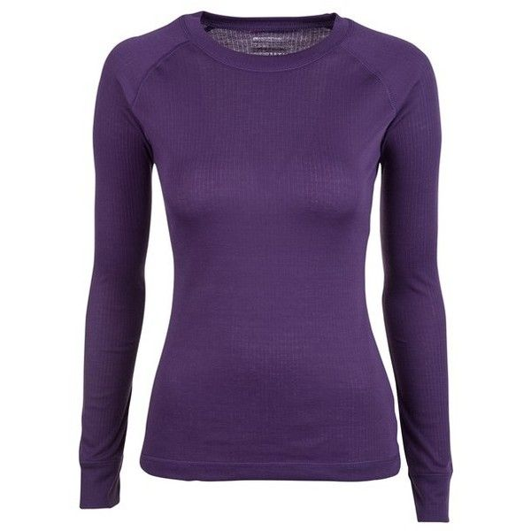 Talus Womens Long Sleeved Top ($15) ❤ liked on Polyvore featuring tops, purple top, long sleeve tops and purple long sleeve top