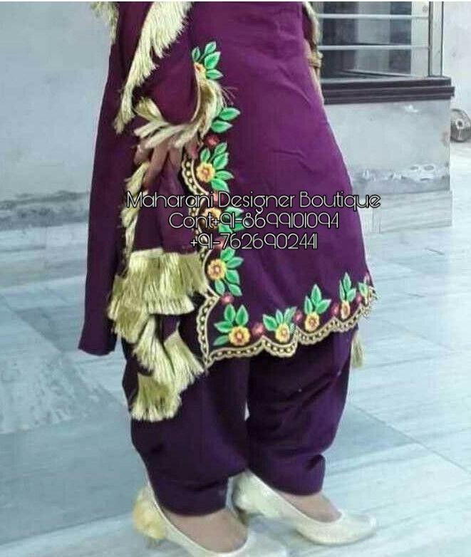 Punjabi Suit In Patiala Maharani Designer Boutique Embroidery Suits Design Embroidery Suits Neck Designs For Suits
