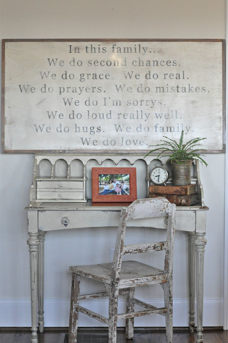 In this Family Sign (customizable). $125.00, via Etsy.