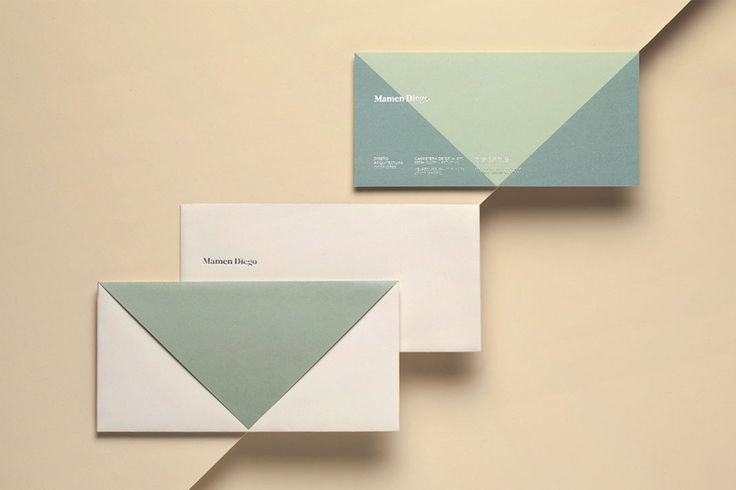 Silver block foiled envelope and compliment slip by graphic design studio Atipo for Spanish architecture and interior design firm Mamen Diego.