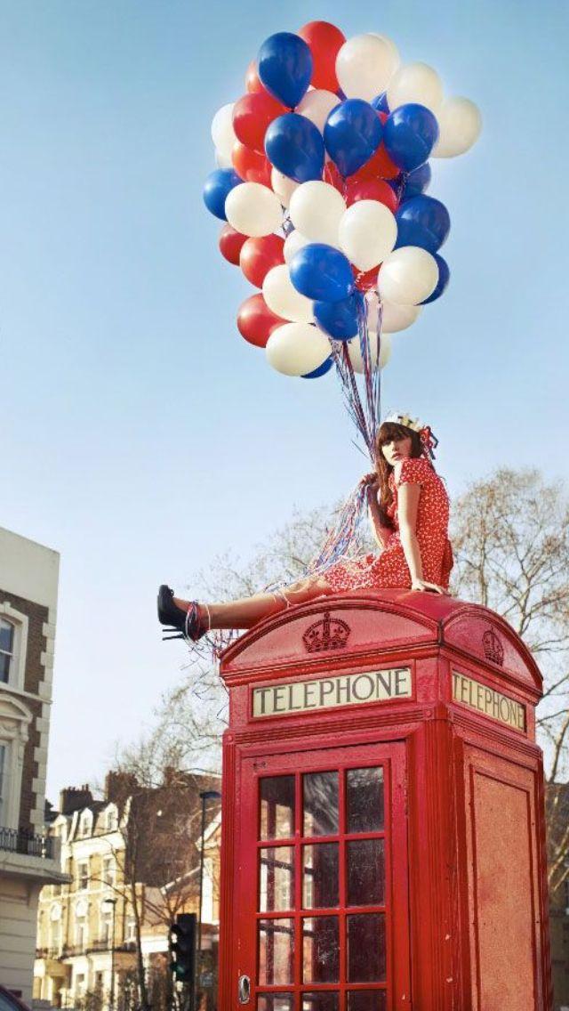 Balloons Balloons, Its a girl balloons, London telephone