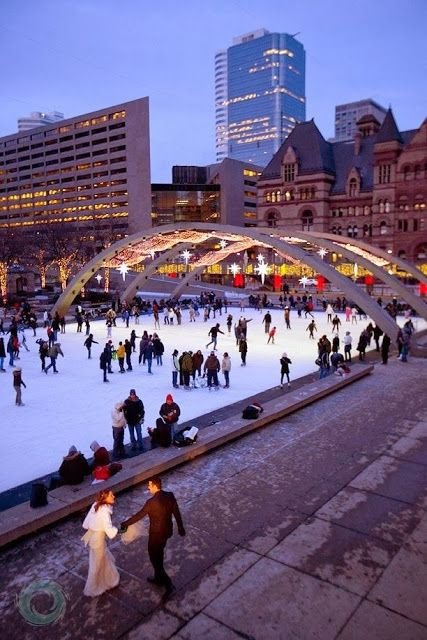 Nathan Phillips Square, Toronto - I taught my babies how to skate on that rink