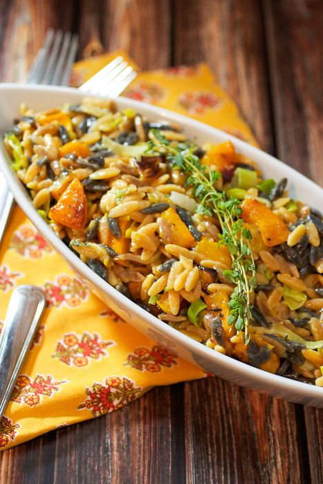 Butternut Squash Orzo Risotto from The Girl In The Little Red Kitchen