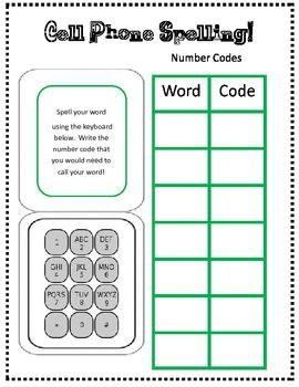 This is a free download to add to your word study center.  You will need a few old cell phones to make this center interactive!Enjoy:)...