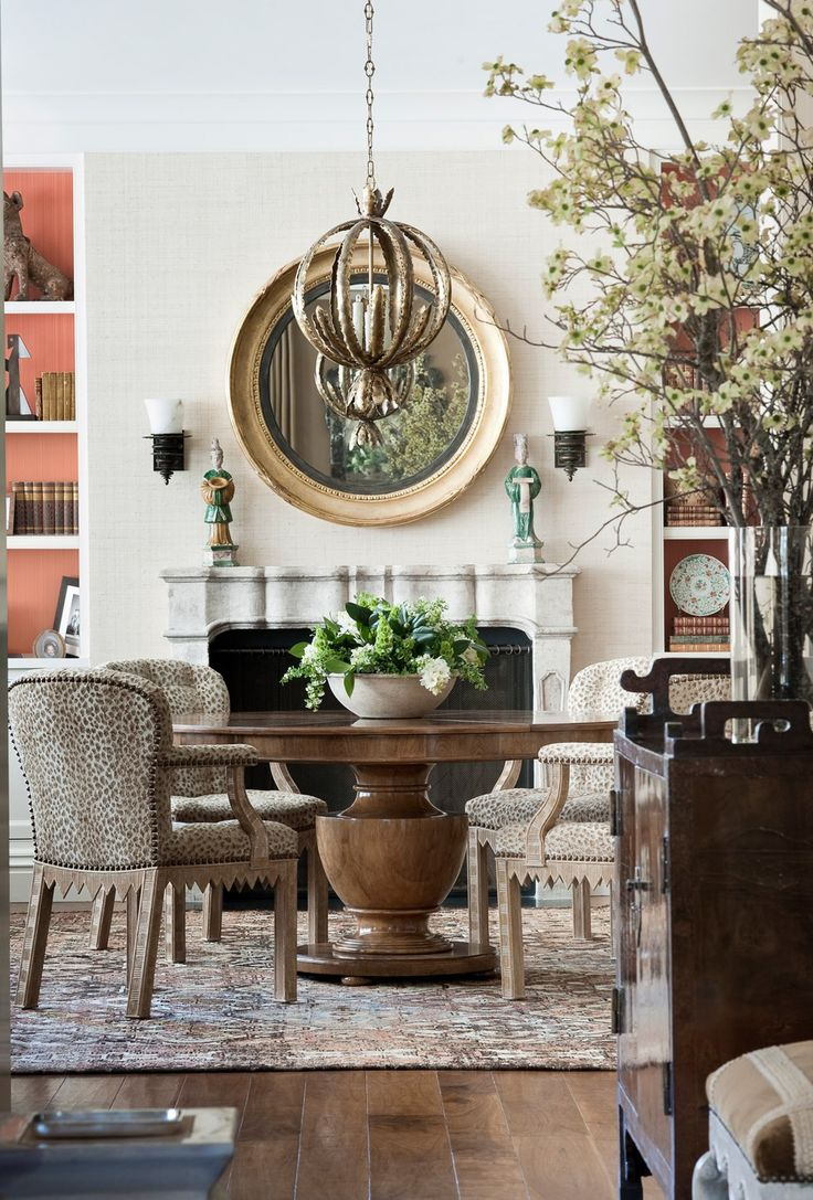 pacific heights residence tucker marks design dining roomsdining tableround - Tucker Dining Room Set