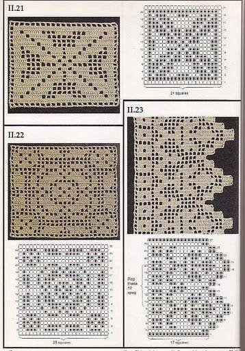 Crochet filet with diagram