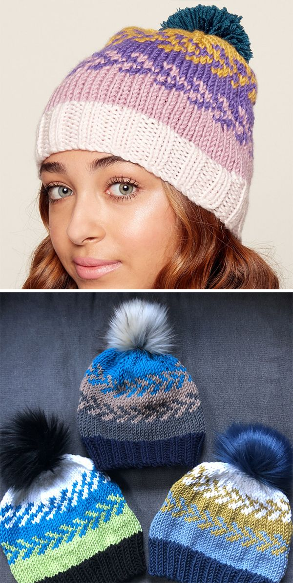 Free Knitting Pattern for Easy Fair Isle Hat - Beanie knit with 5 ...