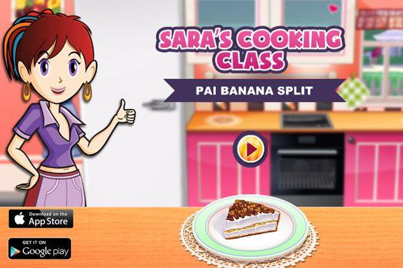 Game Gratis Memasak -Membuat kue Banana Split Pie. Tante Sara mengajak kita membuat kue banana split bersamanya dalam game masak ini