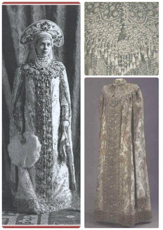 Destalhes do vestido que a grã-duquesa Xenia Alexandrovna, irmã do czar Nicolau, usou no baile.- 1903: o último grande baile da Rússia imperial | Rainhas Trágicas