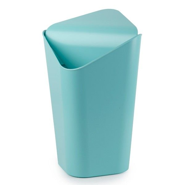 Umbra Corner Can in Surf Blue - designer blue corner rubbish bin