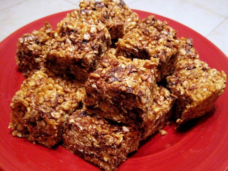 Dark Chocolate Peanut Butter Brown Rice Crispies