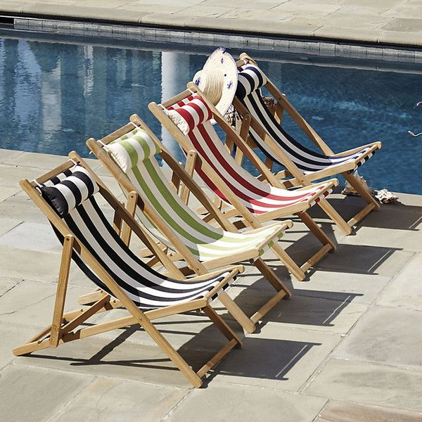 Ballard Designs Classic Beach Folding Chair - I like these if you just need a few extras on hand for big crowds at the pool - Rachel