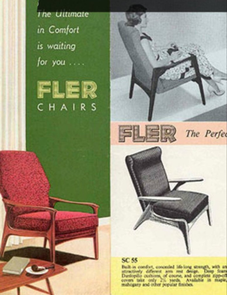 Fler Catalogue with SC55, SC58 and our chairs (circa 1960)