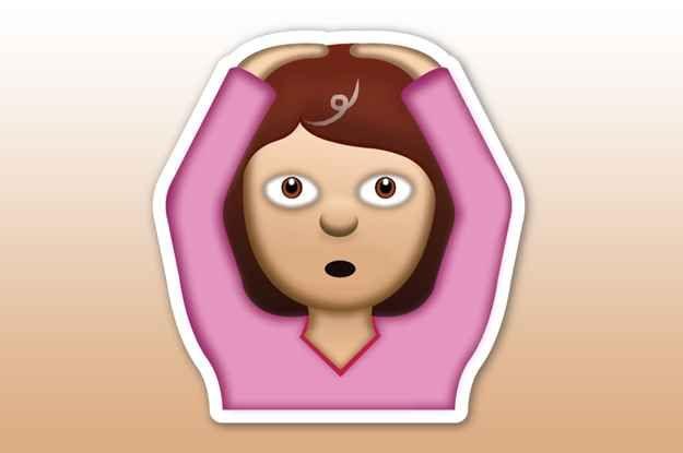 """The """"Oh God, I Got My First Grey Hair!"""" Emoji:"""