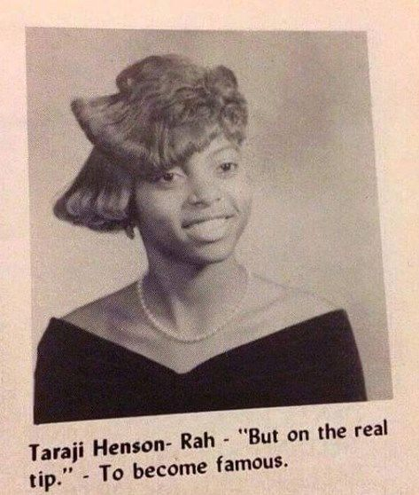 HIGH SCHOOL YEARBOOK: Taraji P. Henson, Actress