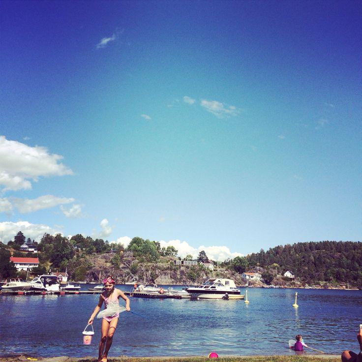 Brevik, Norway. Summertime.