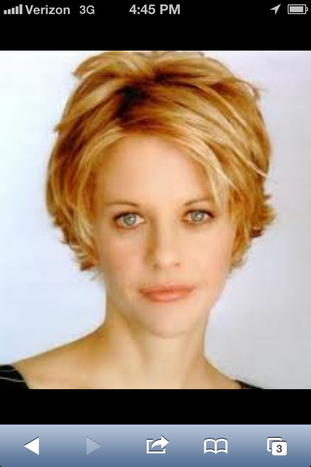 "Short hair cut! Love this!! Perhaps my hair would look something like this, but the face...never!! Meg has ""the look."""
