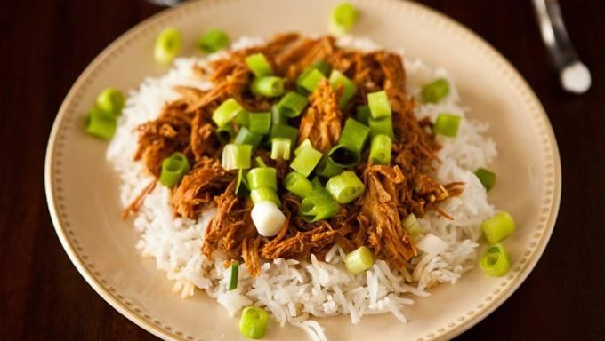 Slow Cooker Bourbon Chicken.     Blogger Angie McGowan of  Eclectic Recipes shares a no-fuss dinner idea.