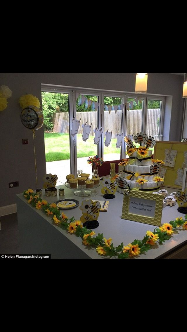 What will it bee? Helen Flanagan baby shower bee theme