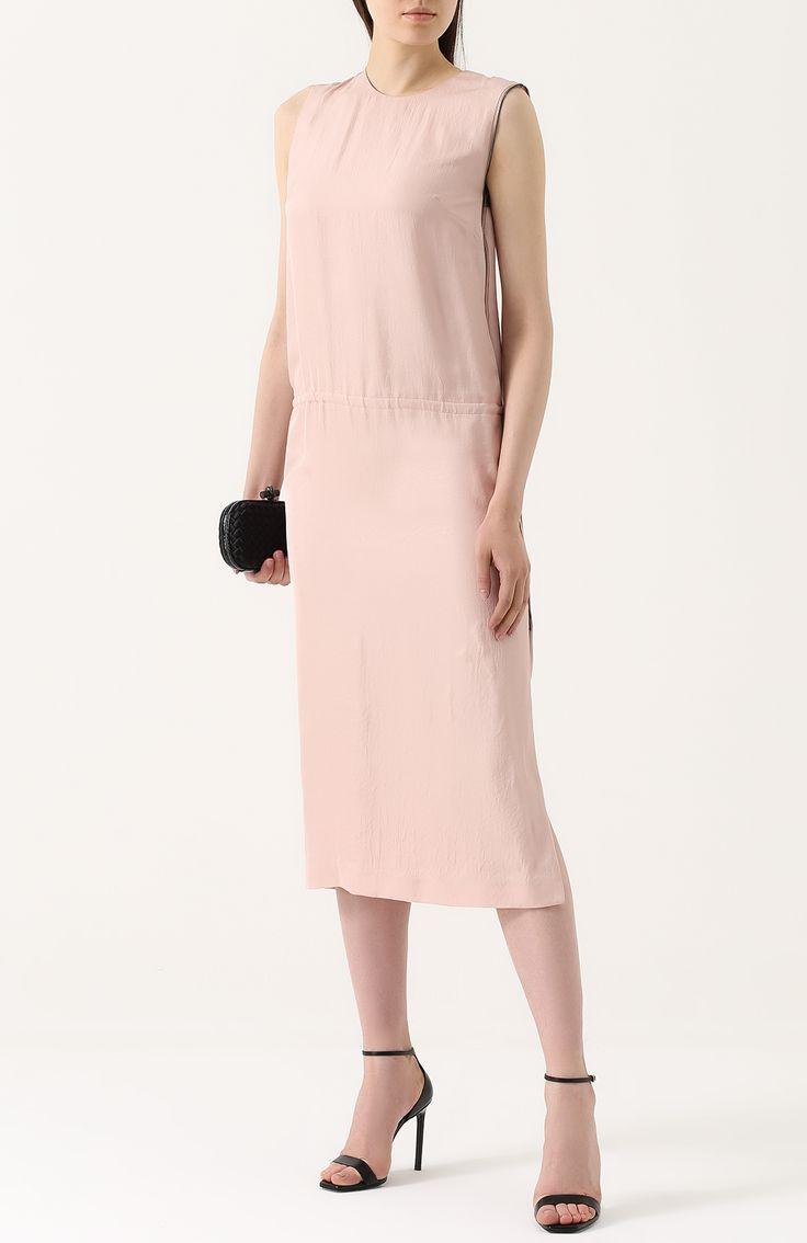 Женское светло-розовое платье прямого кроя с высоким разрезом Tom Ford, сезон SS 2017, арт. AB1805/FAX180 купить в ЦУМ | Фото №2