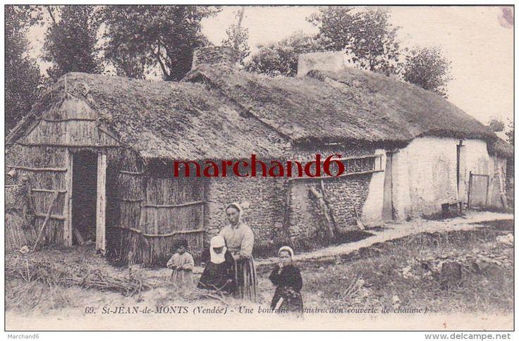 Bourrine couverte en chaume de Vendée, St-Jean de Monts