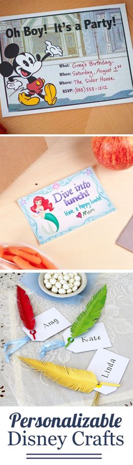 Add a personal touch to these personalizable activities and crafts.
