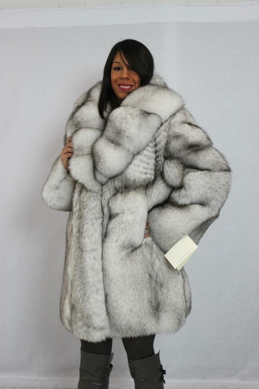 Blue Fox Fur Coat - Coat Nj