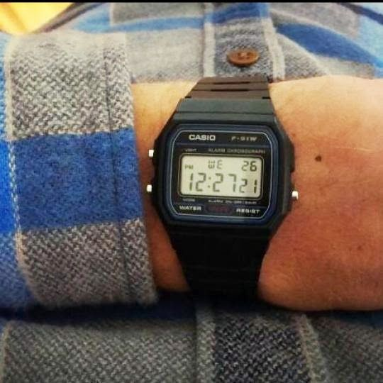 Casio F91W-1. This old-school classic at under $15 offers function, value, and retro style. I wear mine practically every day. Pick up yours in either black or silver. Learn more at http://www.tiotil.com/content/casio-f91w-1