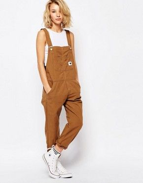#Woman wearing #overalls.