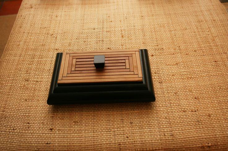 Caixa com tampa em bamboo