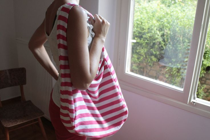 double sided bag (striped/grey)