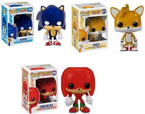 Funko pop set sonic knuckles and tails