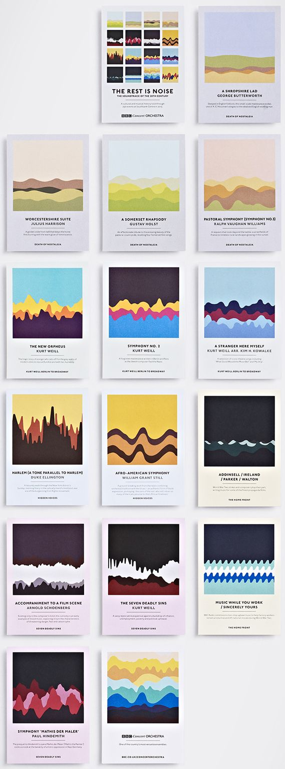 Creative Review - Studio Output's soundwave concert postcards